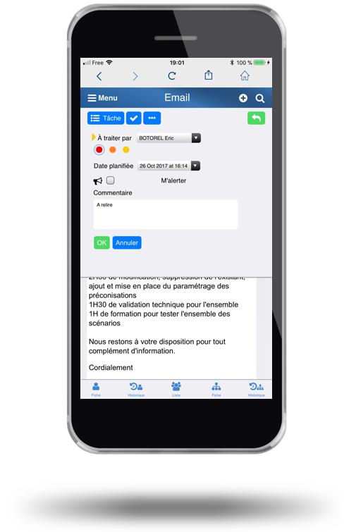 CRM avec gestion des emails